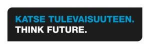 SAMKin slogan; Katse tulevaisuuteen. Think Future.